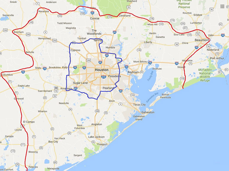 Service Limits Map 2